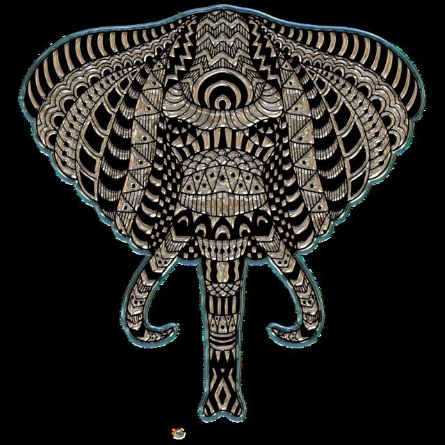 Elephant head metallizer art.