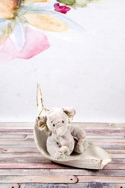 Elephant plush gray.