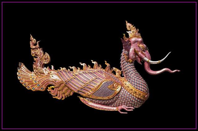 Elephants dragon mythical creatures.