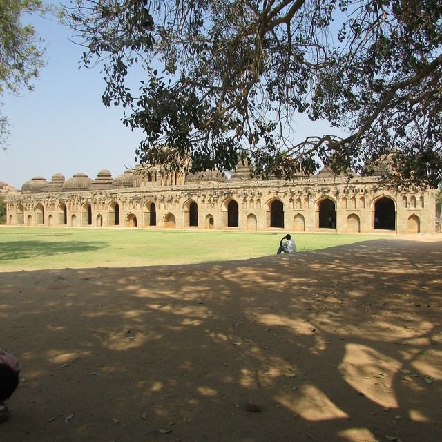 Elephants stable vijayanagar empire hampi, places monuments.