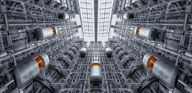 Elevator berlin ludwig erhard haus, architecture buildings.