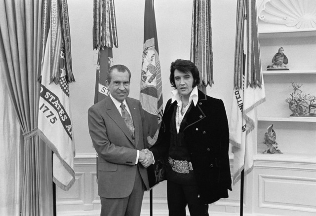 Elvis presley richard nixon 1970.