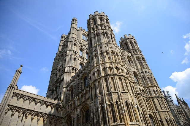 Ely cathedral colossal church, religion.