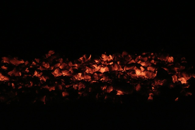 Embers fire campfire.
