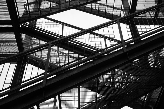 Emergency exit stairs emergency, architecture buildings.