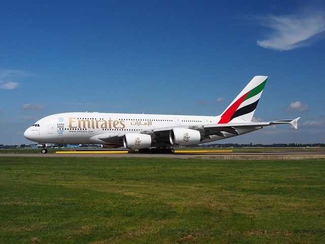Emirates airbus a380 aircraft, science technology.