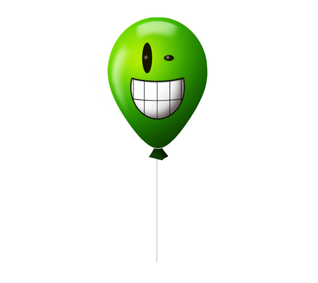 Emoticon balloon crazy, emotions.