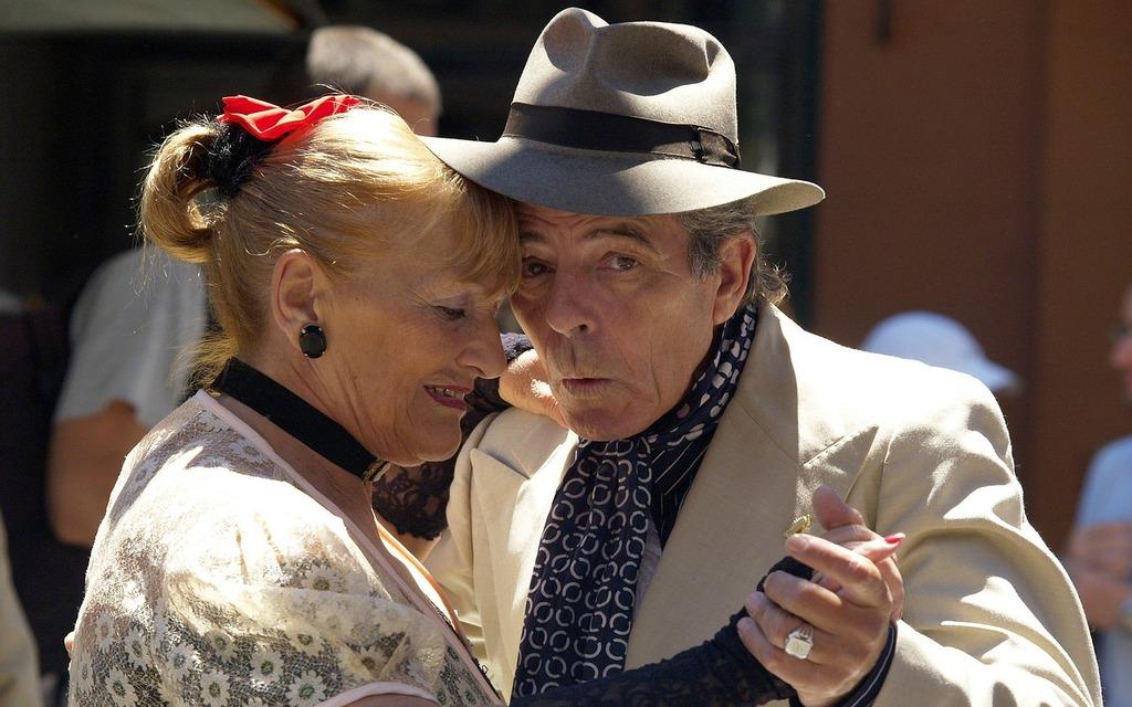 Emotional couple tango, sports.