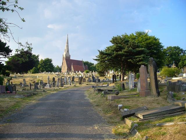 England birmingham cemetery, transportation traffic.