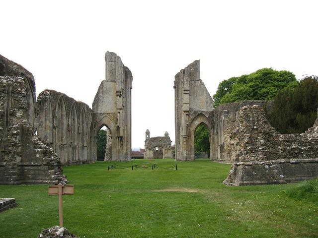 England great britain glastonbury abbey, places monuments.