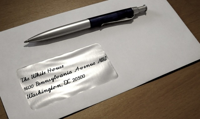 Envelope letters leave.