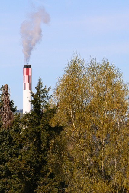 Environment chimney exhaust, science technology.