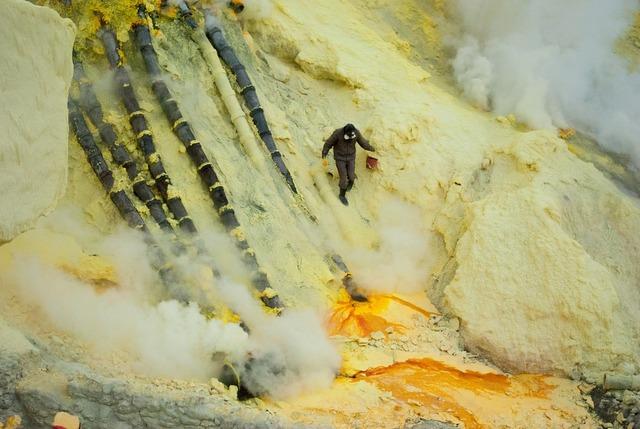 Environment sulfur work, industry craft.