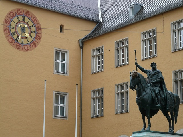 Equestrian statue ludwig i king, architecture buildings.