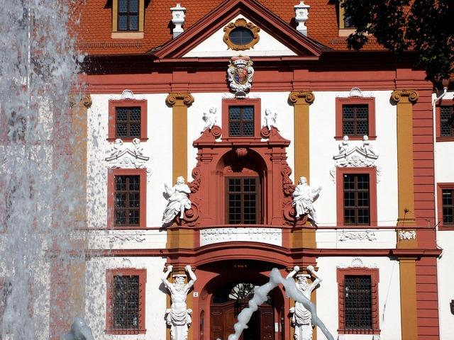 Erfurt state chancellery fountain.