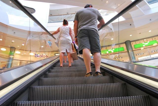 Escalator convenience people, people.