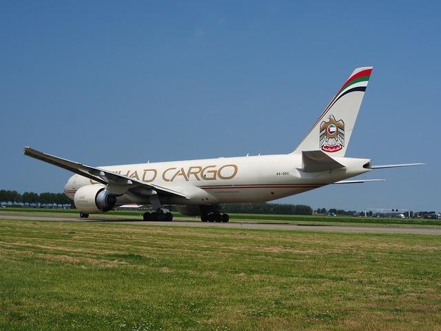 Etihad airways boeing 777 cargo.