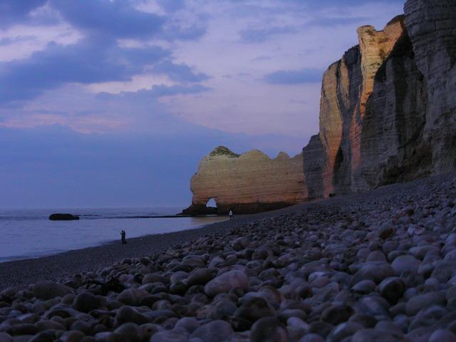 Etretat normandy cliffs.