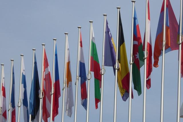 Eu european union flags.