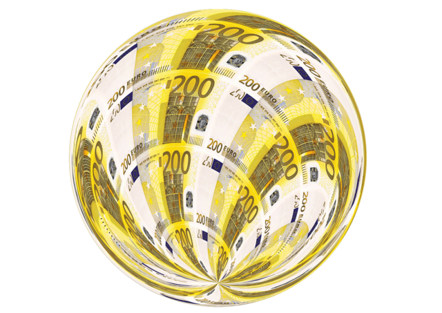 Euro bill currency, business finance.