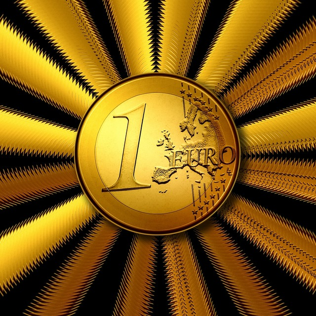 Euro coins money, business finance.