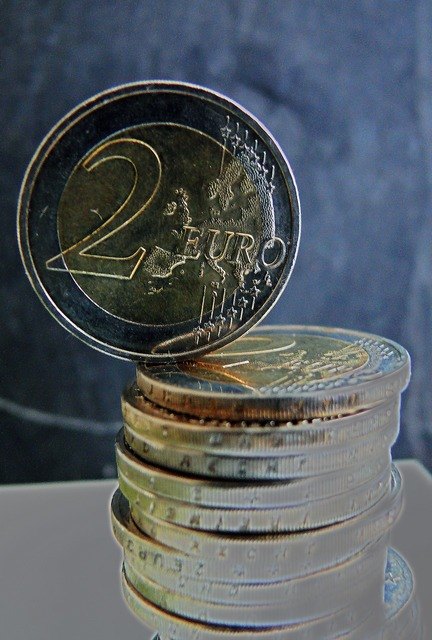 Euro euro coins money, business finance.