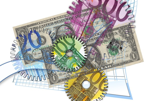 Euro finance currency, business finance.