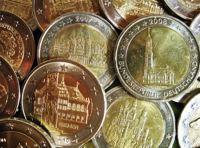 Euro items special coins money, business finance.