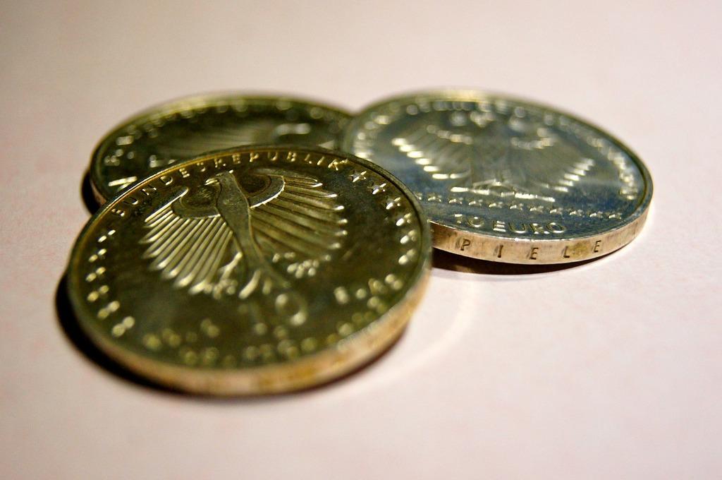 Euro money coins, business finance.