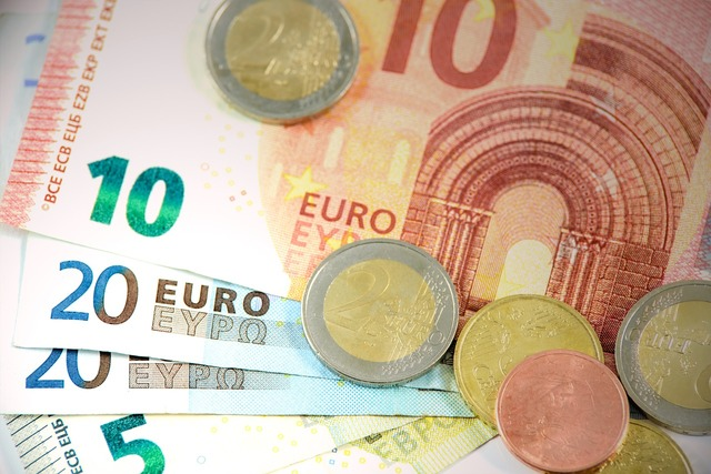 Euro money currency, business finance.