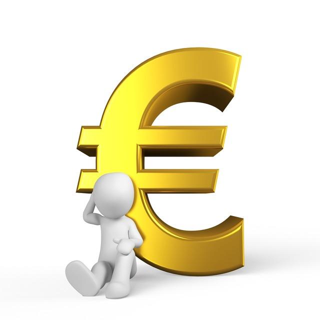 Euro money success, business finance.