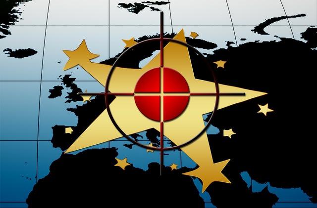 Europe flag star.