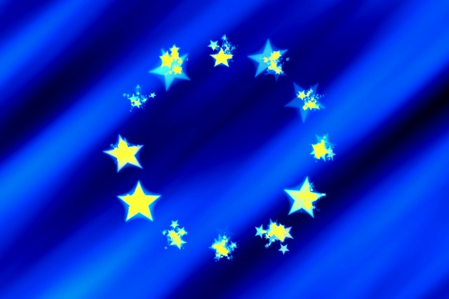 Europe flag star, education.
