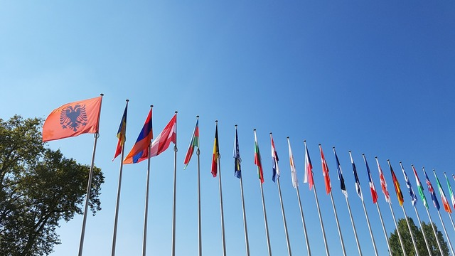 Europe flags strasbourg.