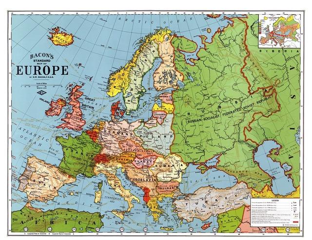 Europe map 1923.