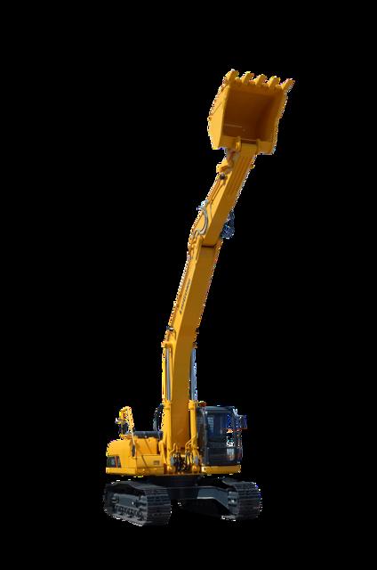 Excavator equipment construction, architecture buildings.