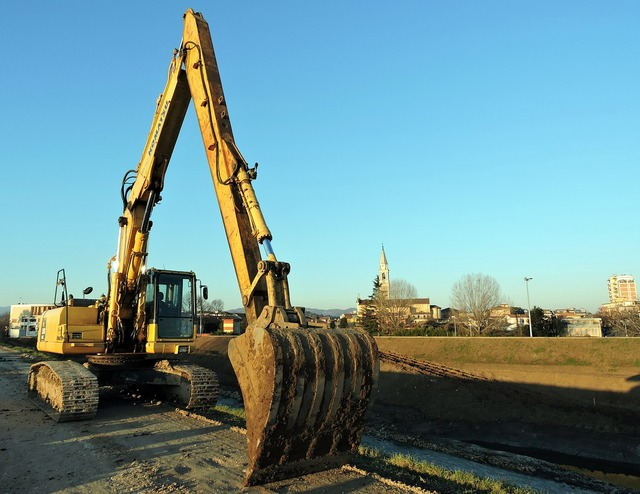 Excavator machinery road, transportation traffic.