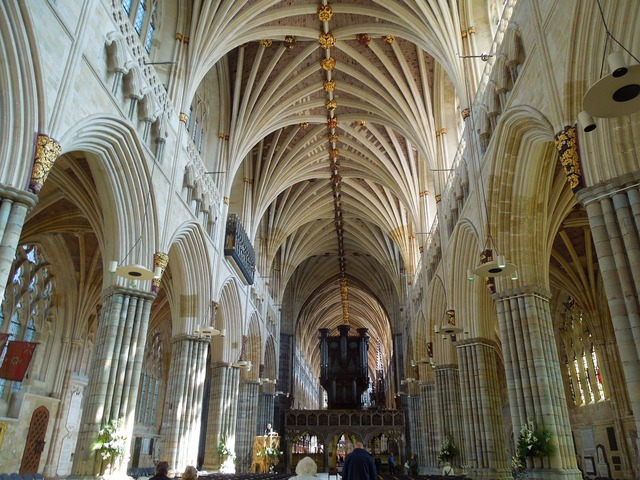 Exeter england cathedrals, architecture buildings.