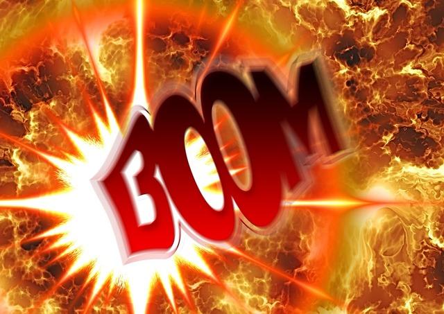 Explosion pop fireball.