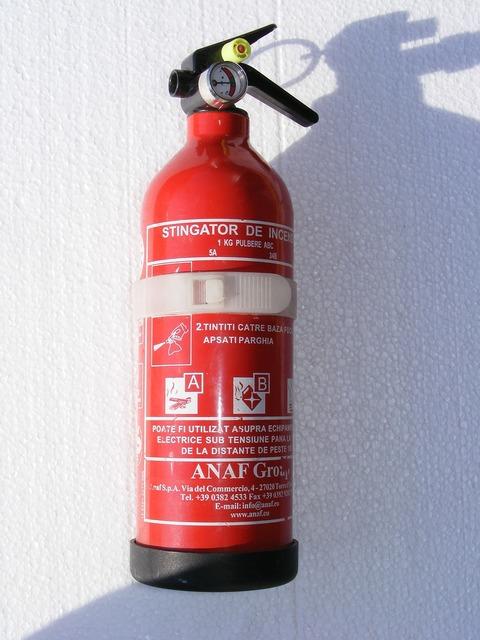 Extinguisher fire powder.