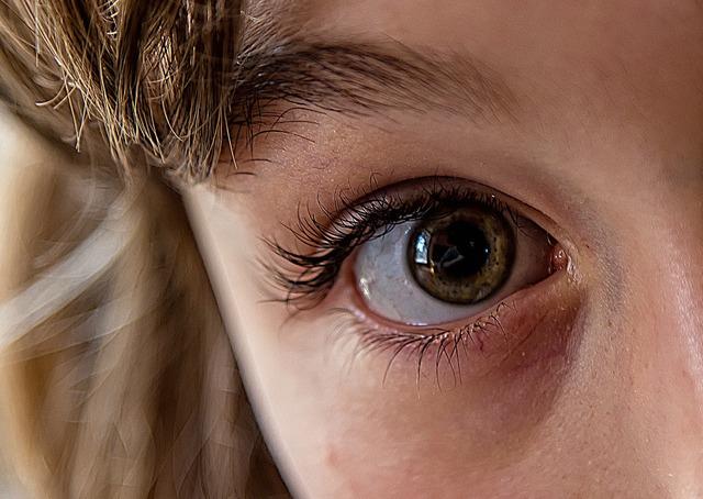 Eye focus pupil, people.