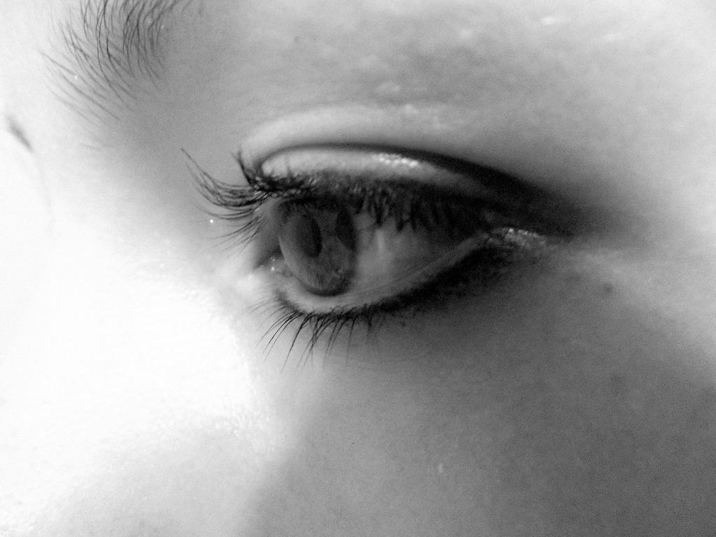 Eye girl black, people.