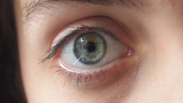 Eye reflection face.