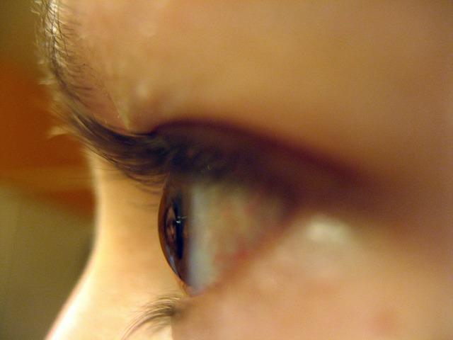 Eyeball close-up girl, people.
