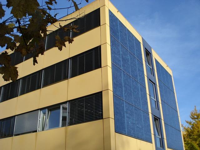 Facade solar panels lausanne, architecture buildings.