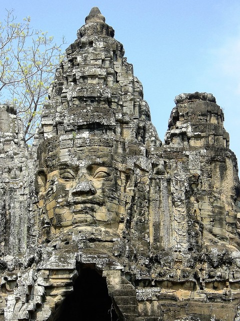 Face cambodia anghor what, religion.