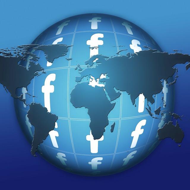 Facebook globe e mail, computer communication.