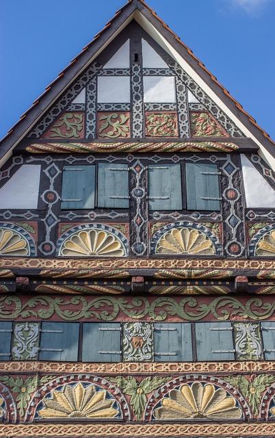 Fachwerkhaus facade truss, architecture buildings.