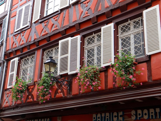 Fachwerkhaus picturesque red, architecture buildings.
