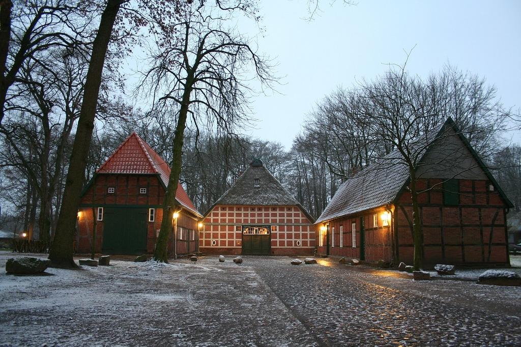 Fachwerkhaus snow heimathaus.